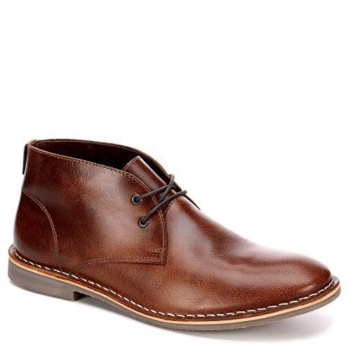 (Franco Fortini Mens Dade Leather Chukka Boot Shoes, Brown, US 11)