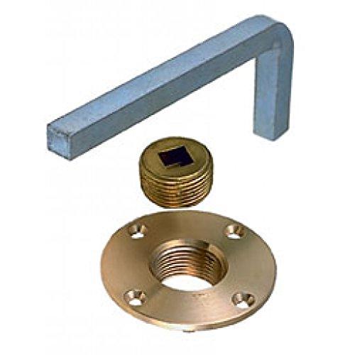Perko Garboard Drain Plug Brass w/ Zinc Steel Wrench ()