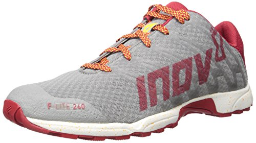 Inov-8 Men's F-Lite 240-M Cross-Trainer Shoe, Grey/Dark Red/White, 10.5 M US