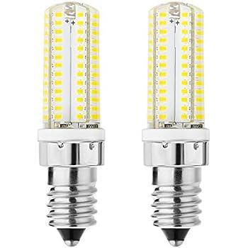 Rayhoo 2pcs E14 LED Light Bulbs 5W Equivalent 40W Incandescent Bulb, E14 European Base Bulb, Not Dimmable, White 6000K, 300-320LM