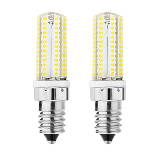 (Rayhoo 2pcs E14 Base 104-SMD White 5W LED Light Bulbs, 40W Incandescent Bulb Equivalent, Not Dimmable, 5800-6200K, 300-320LM )