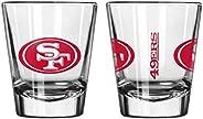 Official Fan Shop Authentic NFL Logo 2 oz Shot Glasses 2-Pack Bundle. Show Team Pride at Home, Your Bar at The