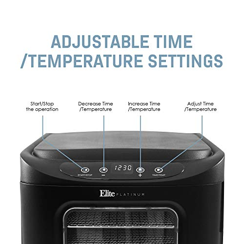 Elite Platinum Maxi-Matic EFD-313B Digital Food Dehydrator with Stainless Steel Trays, Adjustable Timer and Temperature Controls with Auto Shut-Off BPA-Free Trays, 6 Trays, Black by Elite Platinum (Image #8)