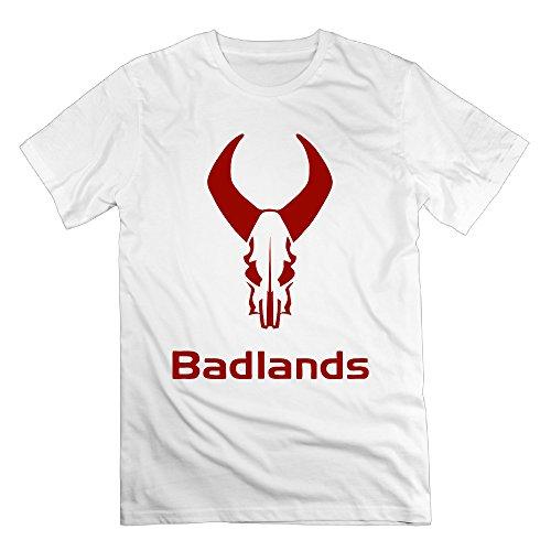 Men Badlands Bulls Head Symbol Personalized Short Shirts Tee