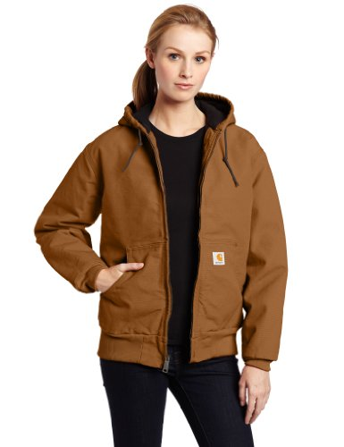 Carhartt Women's Quilted Flannel Lined Sandstone Active Jacket WJ130,Carhartt ()