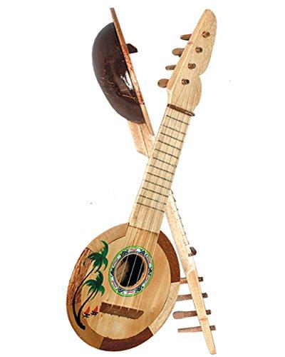 Coconut Ukulele - Hawaiian Tropical Luau Coconut Ukulele Guitar Prop Costume Accessory