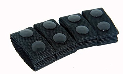 Bianchi Patroltek 8006 Black Belt Keeper 2 Snap (4-Pack)