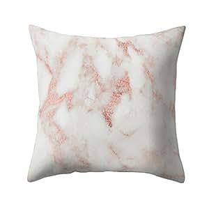 Decoración del hogar, Rumas Fashion Textura de mármol diseño geométrico manta funda de almohada de sofá funda de cojín