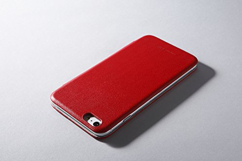 Deff Premium Genuine Leather Style Case - Vintage Book Style Wallet Leather Cover for Apple iPhone 6 for iPhone 6 (Red)