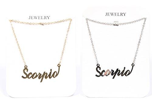 (The Classic Sign Horoscope Gold Filled Zodiac Symbol Fashion Necklace (Scorpio_Gold_Silver))