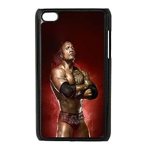 iPod Touch 4 Case Black Wwe Rock Champion F9O8UK