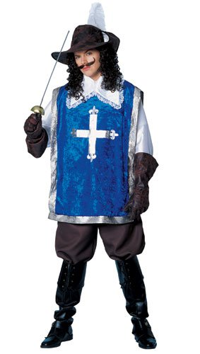 Costume Culture Men's Musketeer Costume, Blue, (Musketeer Costume Men)