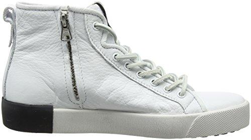 Donna Bianco Alto Sneaker Collo white Whit A Blackstone Pl70 q7wXx4YYf