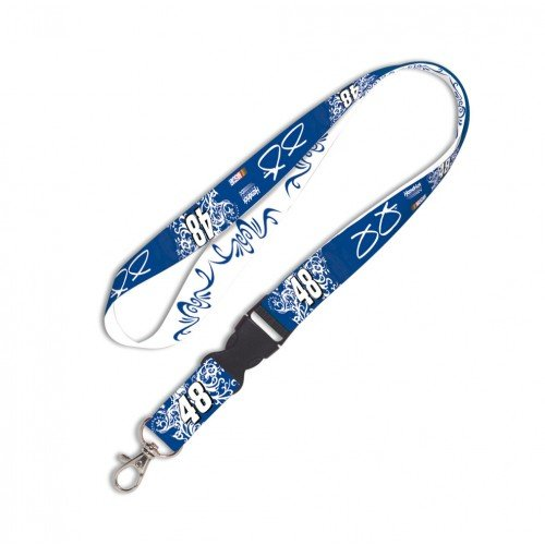 Jimmie Johnson #48 Blue and White Women's Lanyard, - Jimmie Johnson Lanyard