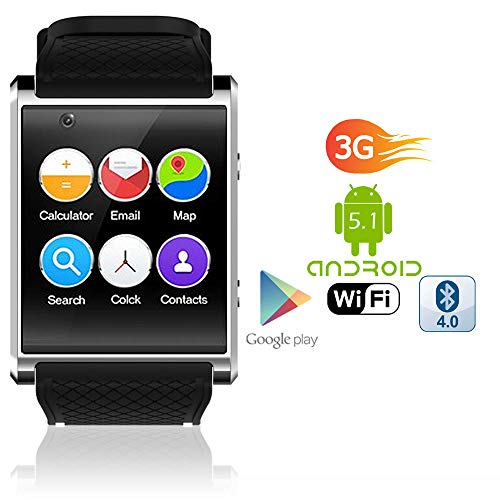 Android 5.1 SmartWatch by Indigi (1.54-inch OLED Display + QuadCore CPU + Camera + GPS & WiFi)