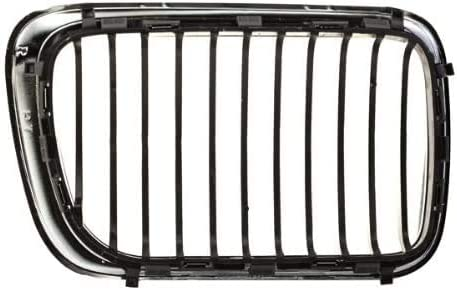 I-Match Auto Parts Left Driver Side Front Hood-Mounted Grille Replacement for 1997-1999 BMW 3 Series BM1200122 51138195151 Chrome with Black Bars