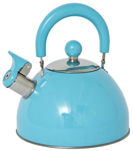 Panorama Retro Whistling Kettle (Blue)