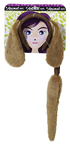 Forum Novelties Unisex Playful Animals Dog Costume Accessory Set,Multi,One (Dog Ear Headband Costume)