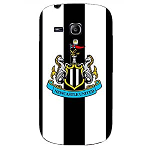 Newcastle United Football Club Logo Unique Design Customized Slim Durrable Plastic 3D Fantasy Case WRE560 for Samsung Galaxy S3 mini