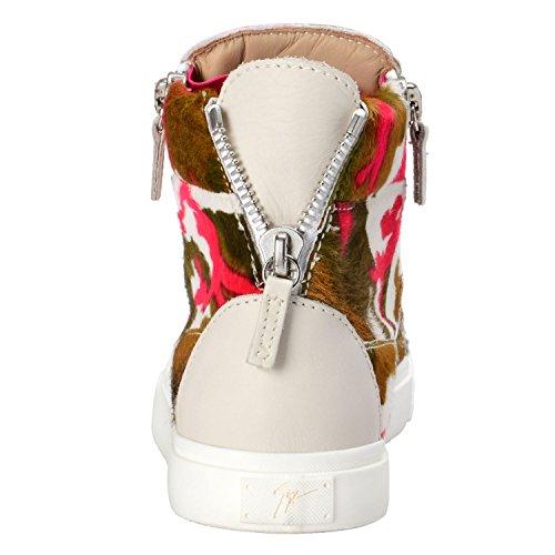Giuseppe Zanotti Design Donna Pelle Di Cavallino Pony Scarpe Da Ginnastica Alte Scarpe Noi 7,5 It 37,5