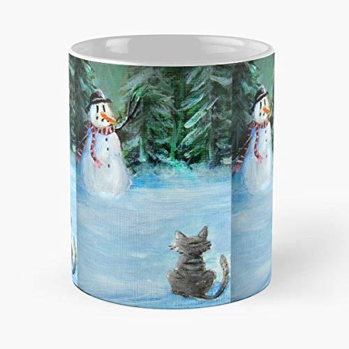 Snowman Tea, Coffee Mugs Funny Girf For Holiday.