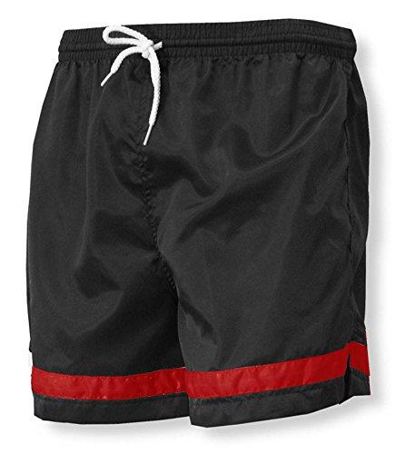 Code Four Athletics 'Vashon' team soccer shorts - size Adult S - color Black/Red