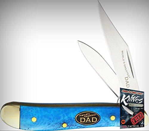 Frost FSW107WGDBL Little Peanut Folding Limited Elite Knife Clip/Pen Blue Handle Dad Folder + free eBook by ProTactical'US ()