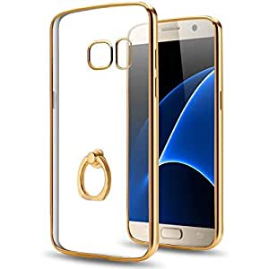 Margoun Soft Electroplated TPU Scratch Resistant Case Cover Compatible with Samsung Galaxy S7 G930F in gold