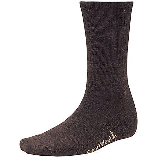 Smartwool Heathered Rib Sock - Men's Chestnut / Black Large by SmartWool