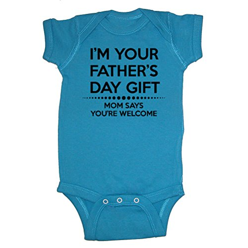 LOL Baby! Im Your Mom Says Youre Welcome Baby Bodysuit & Kids T-Shirts (Cobalt, 6 Months)