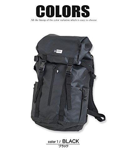 ba86e641cf65 Amazon | YAKPAK リュック ヤックパック バックパック 内布の水色がお洒落なリュックサック 大きいサイズ (FREEサイズ, ブラック)  | YAKPAK(ヤックパック) | タウン ...