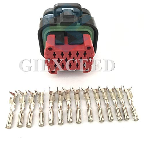 5 Set ECU 14 Pin 770520-1 Tyco AMP Female Waterproof Automotive Connector Plug 776273-1 with Terminals
