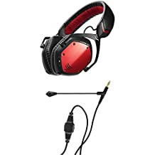 V-Moda Crossfade Wireless Over-Ear Noise Isolating Headphones (Rouge) + BoomPro Gaming Microphone