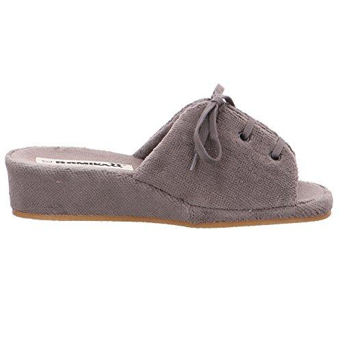 Romika Damen Brindisi Graue Textil Pantoffeln Größe 37 Grau (anthrazit) z99GJGZG