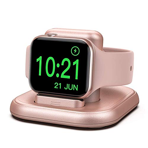 cargador inalambrico apple watch 6/5/4/3/2/1/se rose gold