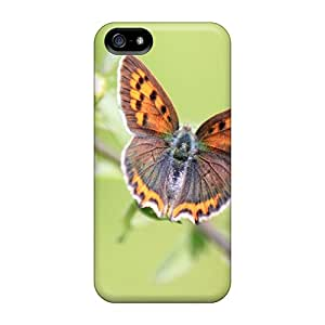 Defender Cases With Nice Appearance (flowers And Butterfly) For Iphone 5/5s