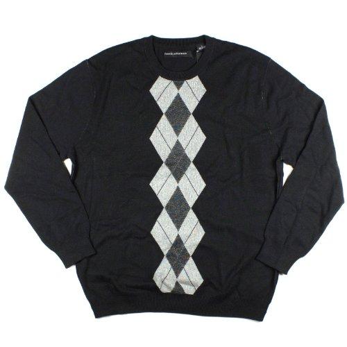 Perry Ellis Men's Sweater, Black, Large ()