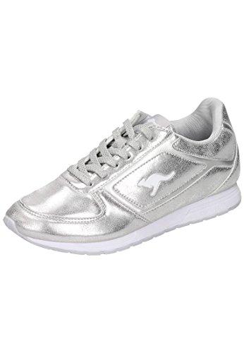 Kangaroos Spoca Shine, Zapatillas para Mujer Multicolor (Silver 9900)