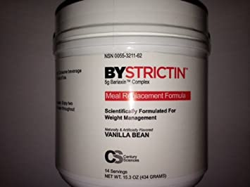 BYSTRICTIN Meal Replacement Formula Weight Management Expands in Your Stomach 50 times – Vanilla Bean – 15.3oz