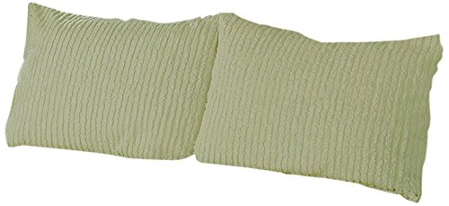 Beatrice Home Fashions Channel Chenille Pillow Sham, Standard, Sage