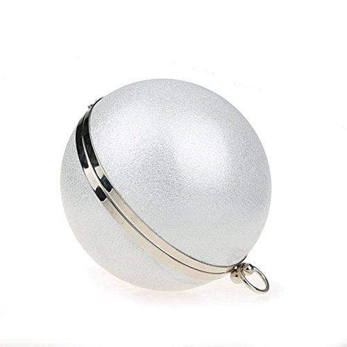Tinksky Bolsos de fiesta redondos del bolso de la bola de la bola redonda atractiva de la bola Bolsos redondos de la bola Bolso de hombro del bolso de mano del terciopelo para el banquete