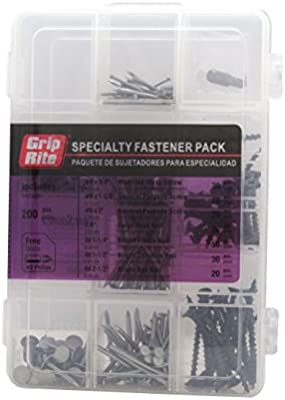 Grip Rite Prime Guard MPCOMBO Specialty Fastener Pack with Free Number 2 Phillips Bit, 200-Piece - - Amazon.com