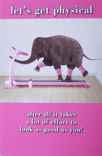 Funny Elephant On Running Machine Birthday Card QuotLets