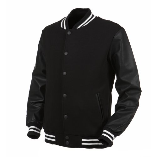 Angel Cola Black & White Varsity Cotton & Synthetic Leather ...