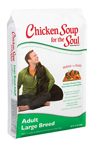 Chicken Soup for the Soul Large Breed Adult Dog Food - Chicken, Turkey & Brown Rice Recipe, 30 lb (Best Dry Dog Food For Colitis)