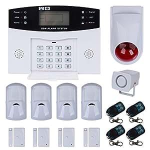 Teléfono con pantalla LCD Alarma Alarma Detector de movimiento seguridad PIR