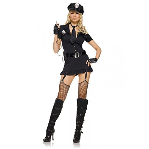 [Mememall Fashion Sexy Police Cop Uniform Officer Costume Women Halloween Cosplay Fancy Dress] (Cinderella Stepmother Costumes)