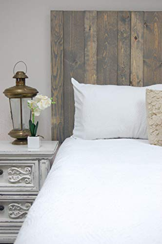 Coastal Gray Headboard Twin Size Stain, Hanger Style, Handcrafted. Mounts on Wall. Easy Installation.