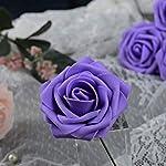 Breeze-Talk-Artificial-Flowers-Lavender-Roses-50pcs-Realistic-Fake-Roses-wStem-for-DIY-Wedding-Bouquets-Centerpieces-Arrangements-Party-Baby-Shower-Home-Decorations-50pcs-Lavender