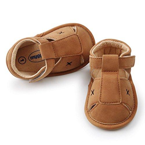Huhu833 Baby Schuhe, Kleinkind Baby Jungen Mädchen Sandalen Schuh Freizeitschuhe Sneaker Anti-Rutsch-Weiche Sohle Khaki